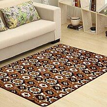 Qwer Coral Matten dicke Wohnzimmer Couchtisch matten Schlafzimmer Bett Grenze Folie Füße, 80 * 120, Girlanden Teppiche