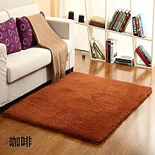 Qwer Das Lamm wolle Teppich shop Wohnzimmer Couchtisch volle Schlafzimmer Luftmatratze bett Seite Bereich aus und 0.8X1.2M, Kaffee Teppiche