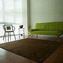 Qwer Das Wohnzimmer Couchtisch Teppiche sofa Schlafzimmer Bett Teppiche, Teppiche Sitzmöbel, 100 CM × 140 CM, dunkelbraun Teppiche