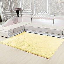 Qwer Das Wohnzimmer Teppich Schlafzimmer Bett mit minimalistischen modernen stilvolle Sofas, Kaffee pad, 80* 180, Beige gelb Teppiche