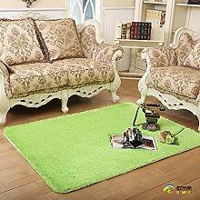 Qwer Der abwaschbare nicht Farbe coral Teppich der Teppich der Schlafzimmer Wohnzimmer Couchtisch bett Teppiche Teppiche, 160 cm × 230 cm, Obst grüne Teppiche verlieren