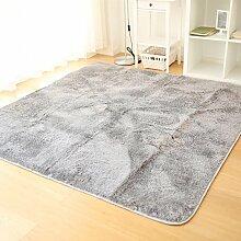 Qwer Der abwaschbare Unkraut Flaum Wohnzimmer Teppiche Tische Schlafzimmer Bett, rechteckigen Matten, 180 CM × 180 CM, Unkraut fusselfreien Pads - Neue Carbon Teppiche