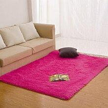 qwer Dicke rechteckige Bett Zimmer mit Teppichboden teppich teppiche Plüsch über dem Wohnzimmer, mit einfachen und modernen, 100*160cm, bessere ro