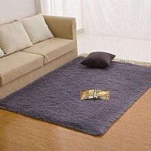 qwer Dicke rechteckige Bett Zimmer mit Teppichboden teppich teppiche Plüsch über dem Wohnzimmer, mit einfachen und modernen, 120*200cm, silber grau