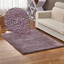 Qwer Dicken, flauschigen Teppich Schlafzimmer Drift Dichtung Zimmer Bett Teppiche lange Füße, 0,8*1,2m, Transaktionen Teppiche