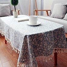 Qwer Die Tischdecke idyllische kleine Wind saika Tischdecken Kanten Spitze Tisch Tischdecke Haushalt Staubschutzhülle, 140 * 180 Handtuch