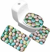 QWER Dreiteiliges Badezimmer Toilette 3 Stücke