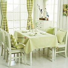 Qwer Einfaches und wunderschönes Dorf apple grüne Streifen wasserdicht Esstisch Tischdecke Couchtisch tuch Partei Tischdecken kleiner runder Tisch Stoffe, Apple grüne Streifen, 140 x 190 cm