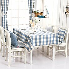 Qwer Einfaches und wunderschönes Dorf Hellblau großer Draht wasserdicht Esstisch Tischdecke Couchtisch tuch Partei Tischdecken kleiner runder Tisch Stoffen, großen Fächern, 140 x 180 cm Hellblau