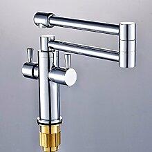 Qwer Galvanik Verchromt Silber Seide Küche Wasserhahn Cu alle Falten Küche Badezimmer Waschbecken Wasserhahn Wasserhahn Wasserhahn Tippen