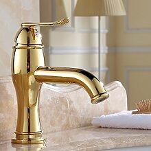 Qwer Gold über Kupfer in der Farbe Küche Wasserhahn Sitzbank Waschbecken mit warmen und kaltem Wasser Küche Wasserhahn
