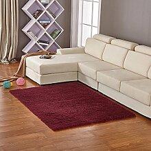 qwer Jen Wan gut über den Teppich Wohnzimmer Schlafzimmer , Continental dicken Wollteppichen benutzerdefinierte Bett Zimmer und volle , shop Um 1.6x2.0 m , Wein ro