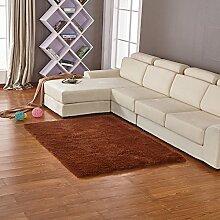 qwer Jen Wan gut über den Teppich Wohnzimmer Schlafzimmer , Continental dicken Wollteppichen benutzerdefinierte Bett Zimmer und volle , shop Um 1.6x2.0 m , Kaffee