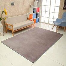 Qwer Komfortables Schlafzimmer Wohnzimmer Teppich bett Zimmer Teppich kleben die Kinder Studie Teppich, 65 cm × 160 cm, grau Teppiche