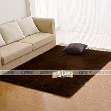 Qwer Rechteckige Wohnzimmer Couchtisch Teppiche m weißen flauschigen Teppichen, 50 * 160 CM, Schlafzimmer Bett braun Teppiche