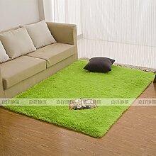 Qwer Rechteckige Wohnzimmer Couchtisch Teppiche m weißen flauschigen Teppichen, 60 * 90 CM, Schlafzimmer Bett grüne Teppiche