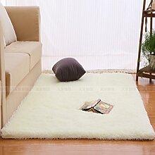 Qwer Rechteckige Wohnzimmer Couchtisch Teppiche m weißen flauschigen Teppichen, 40 * 60 CM, Schlafzimmer Bett m weiße Teppiche