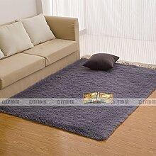 Qwer Rechteckige Wohnzimmer Couchtisch Teppiche m weißen flauschigen Teppichen, 120 * 160 CM, Schlafzimmer Bett graue Teppiche
