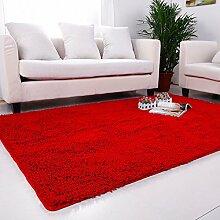qwer Super Rabatt! Multifunktionshebel Carpet Lounge Couchtisch Teppiche Schlafzimmer Bett- und Wasseraufnahme und rutschfeste, 140*200cm, ro