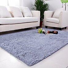 qwer Super Rabatt! Multifunktionshebel Carpet Lounge Couchtisch Teppiche Schlafzimmer Bett- und Wasseraufnahme und rutschfeste, 60*200cm, silber grau