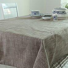 qwer Tablecloths Baumwolle Tischdecken Stoffen minimalistischen modernen Schreibtisch Flagge dicke Tischdecken idyllische runden Tisch Tischdecken, Tischdecken, 140 * 200 cm Mokka