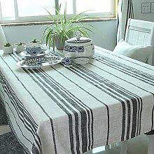 qwer Tablecloths Baumwolle Tischdecken Stoffen minimalistischen modernen Schreibtisch Flagge dicke Tischdecken idyllische runden Tisch Tischdecken, Tischdecken, 140 * 140 cm Star