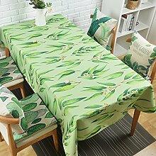 qwer Tablecloths Die Nordischen Tischdecken Gewebe Baumwolle idyllische frische kleine rechteckige Tische Tischdecke Rund - tisch Tuch die Tischdecke, grüne Blätter mehr, 110 * 110 cm dick)