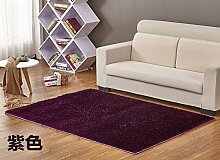 Qwer Upscale Carpet Lounge Couchtisch Schlafzimmer Bett Teppich Shop voll waschbar, 0,8* 2,0 m, Lila Teppiche