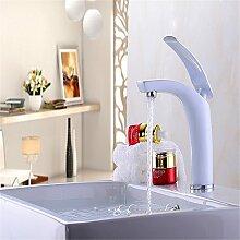 Qwer Waschbecken Badezimmer Schränke Alle Kupfer heißen und kalten Wasserhahn Sitzbank Becken Hubhöhe Farbe Wasserhahn
