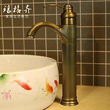 Qwer Wasserhahn Cu alle Becken Mischbatterien antike Sitzbank, Waschbecken Armaturen für Badezimmer