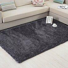Qwer Weiche elastische Thread auf Bevölkerung moderne, minimalistische Wohnzimmer Couchtisch Teppiche Schlafzimmer Bett Teppiche, 1.6*2.3M, Carbon Teppiche