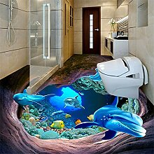 Qwerlp 3D Boden Tapete Wasserdicht Für Bad