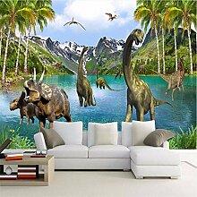 Qwerlp 3D Fantasie Wandbild Tapete Dinosaurier