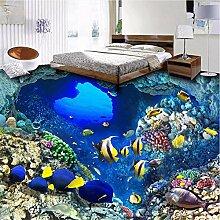 Qwerlp 3D Mittelmeer Schwarm Fischboden Tapete