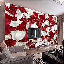 Qwerlp 3D Wandbild Tapete Roomantic Rote