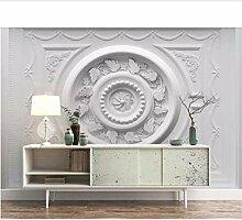 Qwerlp 3D Wandbilder Gemusterte Gips Relief Tapete