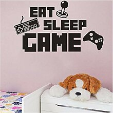 Qwerlp Eat Sleep Spiel Aufkleber Gaming Vinyl