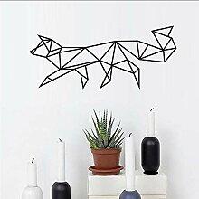 Qwerlp Geometrische Fox Wandaufkleber Wohnzimmer