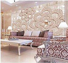 Qwerlp Luxus Tapete 3D Fototapete Für Wohnzimmer