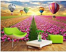 Qwerlp Natur-Tapete Tulip Flowers Tapete Für