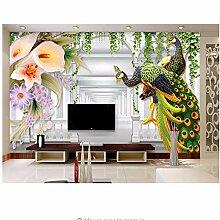 Qwerlp Tapete Geprägte Blumen Tapete Für Wände