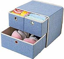 QWERTLH Schubladen-Aufbewahrungsbox Folding Drawer