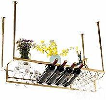 QWERTY Wine Rack Decken-Weinregal, Weinglas Rack