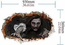 QWhing Unfug New Halloween 3D Horror Wandspiegel