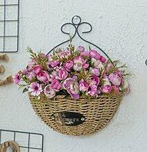 QWHKK Künstliche Blume Wand Dekoration Blume