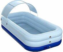 qwqqaq Aufblasbarer Pool Mit Canopy,Voll-größe
