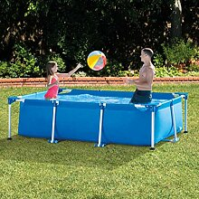 qwqqaq Metallrahmen Aufblasbarer Pool Für Garten