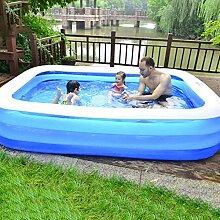 qwqqaq Rechteck Aufblasbarer Pool Für Alter 3+