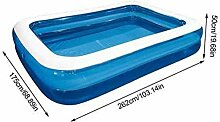 qwqqaq Schwimmbecken Für 1-7 Völker,PVC