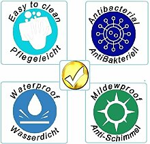 QWY Bad duschvorhang transparent wasserdicht